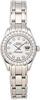 Datejust Mechanical (Automatic) Mother-of-Pearl Dial Womens Watch 69299 (Certified Pre-Owned)