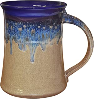 Clay in Motion 20 oz Mug - Large Handmade Pottery Ceramic Coffee Cup - Cobalt Canyon
