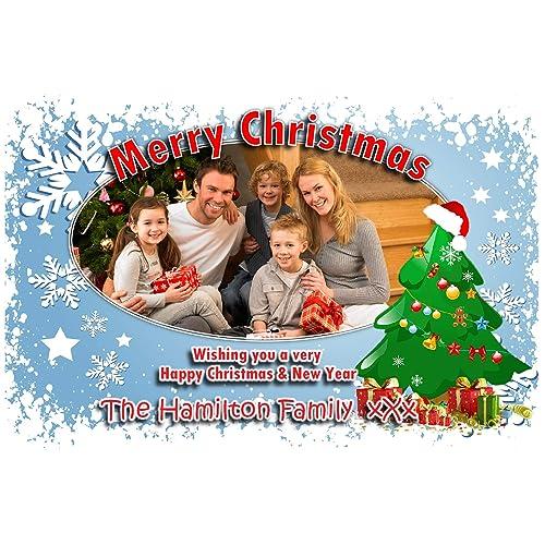 Personalised Christmas Card Amazon Co Uk