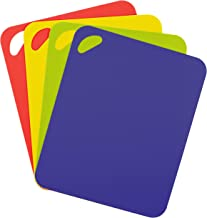 Dexas 6554PK Heavy Duty Grippmat Flexible Cutting Board Set of Four, 11.5 by 14 inches, Blue, Green, Yellow, Red