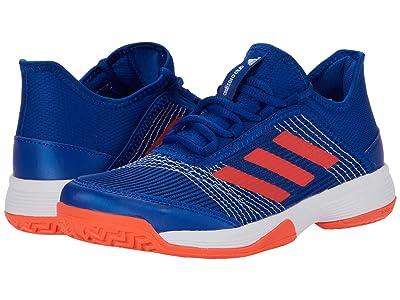 adidas Kids Adizero Club Tennis (Little Kid/Big Kid) (Collegiate Royal/Solar Red/Footwear White) Kids Shoes