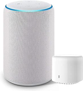 Echo Plus (エコープラス) 第2世代 - スマートスピーカー with Alexa、サンドストーン + シンプルスマートリモコン EZCON 白