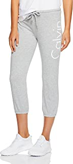 Calvin Klein Women's Crop Terry Logo Sweatpant