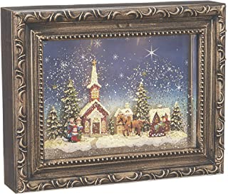 RAZ Imports Town Scene Lighted Water Picture Frame