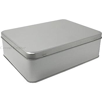 Boxance Caja De Metal Grande Con Tapa Bisagras Contenido 2,2 ...