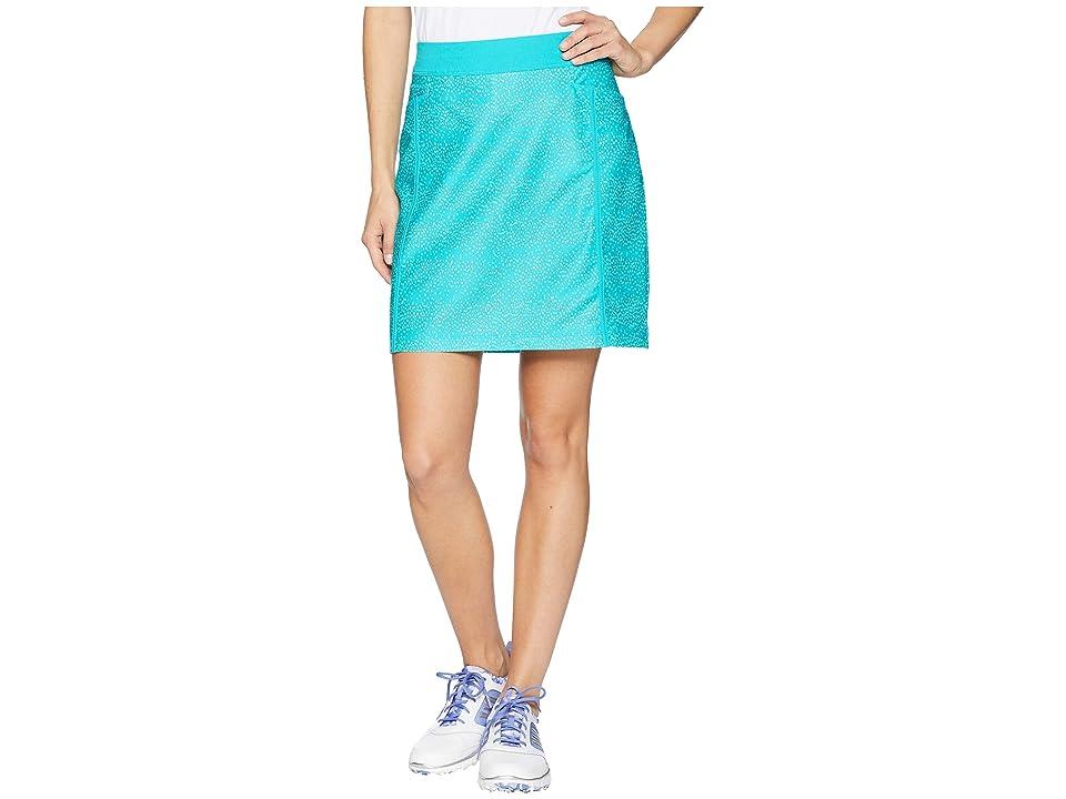 adidas Golf Ultimate Adistar Printed Skort (Hi-Res Aqua) Women