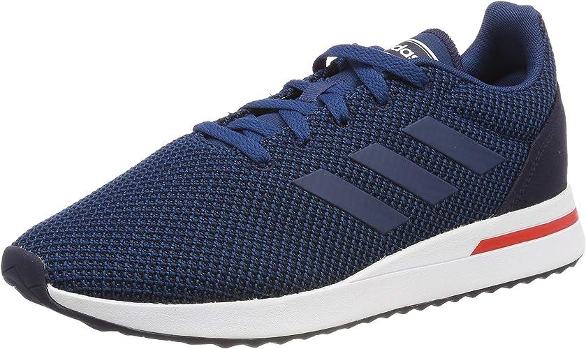 Adidas Run70s, Chaussures de Running Homme, Bleu Ink Legend Marine Active rouge, 44 2 3 EU