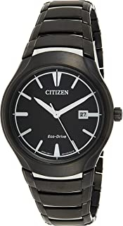 Citizen Mens Solar Powered Watch, Analog Display and Stainless Steel Strap AW1558-58E