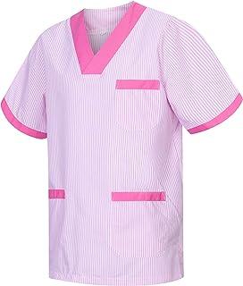 MISEMIYA - Abbigliamento Lavoro Unisex Collo Picco Maniche Corte Uniforme Clinica Ospedale Pulizia Veterinario IGIENE OSPI...