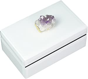 Two's Company Women's Amethyst Geode Hinged Box