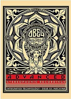 Vscdye Obey Records (Shepard Fairey) Art Affiches et Impressions Art Toile Peinture décor à la Maison HD Art Affiche Impre...