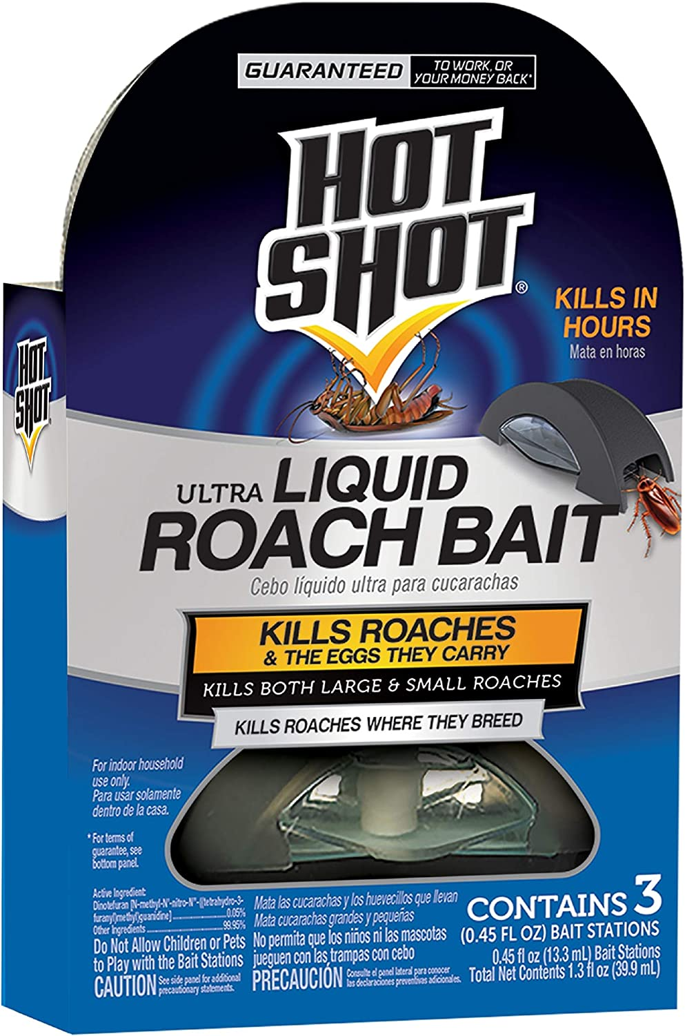 Hot Shot HG-96591 Ultra Our shop most popular Liquid Roach 18-co Kills Max 40% OFF Hours in Bait