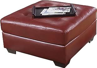 Ashley Furniture Signature Design - Alliston Contemporary Oversized Accent Ottoman - Contemporary - Salsa