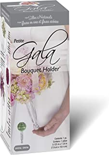 FloraCraft Gala Bouquet Holder with Floral Dry Foam 3.1 Inch x 7.25 Inch Clear Handle