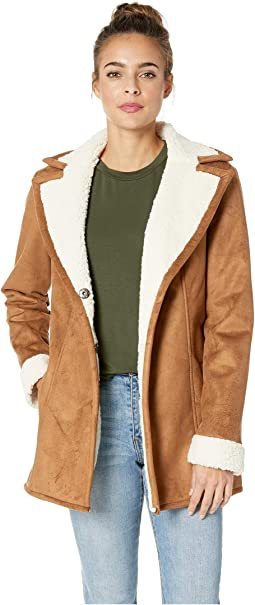 Amsterdam Sherpa Bonded Faux Suede Jacket