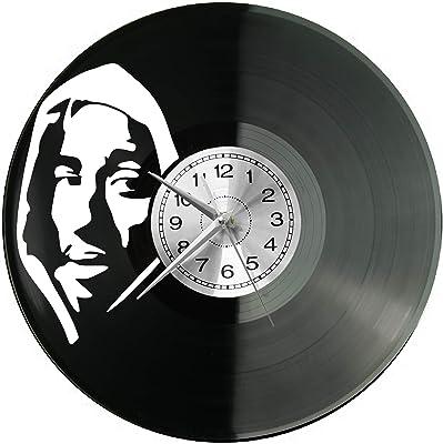 WoD Serge Gainsbourg Horloge Murale en Vinyle avec Plaque sonore r/étro Grande Montre Style Chambre D/écoration de Maison Cadeau