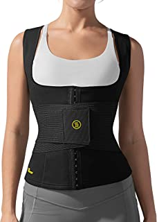 Hot Shapers Cami Hot Waist Cincher with Waist Trainer - Workout Sauna Sweat Vest Weight Loss Suit for Women
