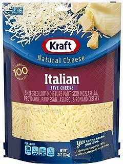 Kraft Natural Shredded Italian Style Five Cheese Blend (8 oz Bag)