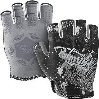 Palmyth Stubby UV Fishing Gloves Sun Protection Fingerless Glove Men Women UPF 50+ SPF for Kayaking, Paddling, Canoeing, Rowing, Driving