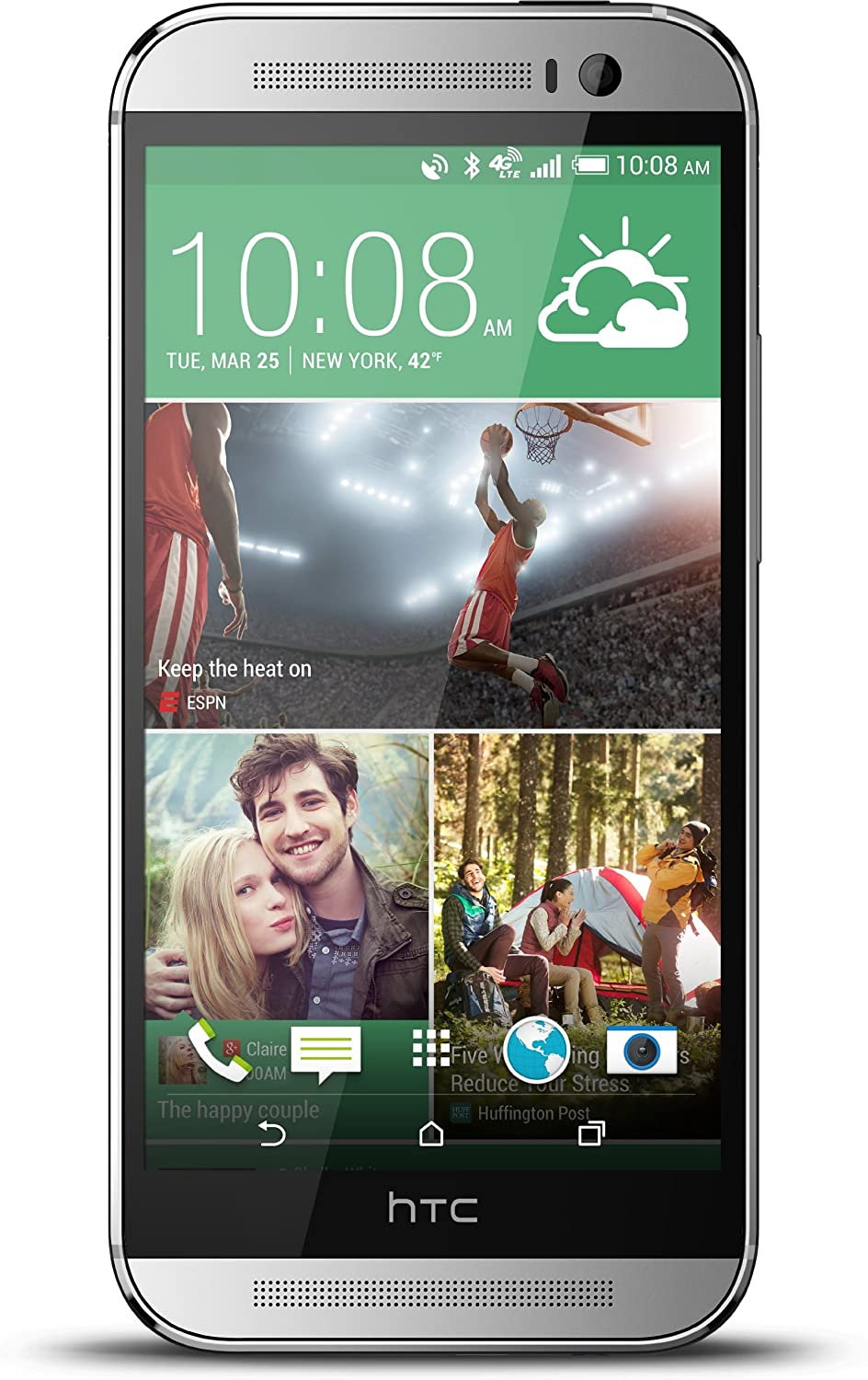 HTC One New color M8 32GB Unlocked Smartphone Glacial Sil U.S. Max 83% OFF - Version