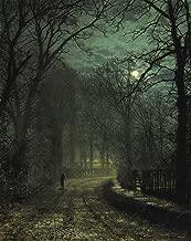 Berkin Arts John Atkinson Grimshaw Giclee Canvas Print Paintings Poster Reproduction(A Yorkshire Lane in November)