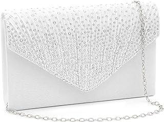 Milisente Clutch Purses for Women evening Glitter Wedding Purse Crystal Envelope Clutches Shoulder Bags