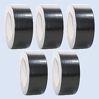 5 Rollen Premium Gewebeband in schwarz | Panzertape | Panzerband | Klebeband | Gaffa Tape | 50mm x 50m, Farbe:schwarz