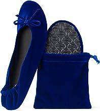 blue velvet shoes womens
