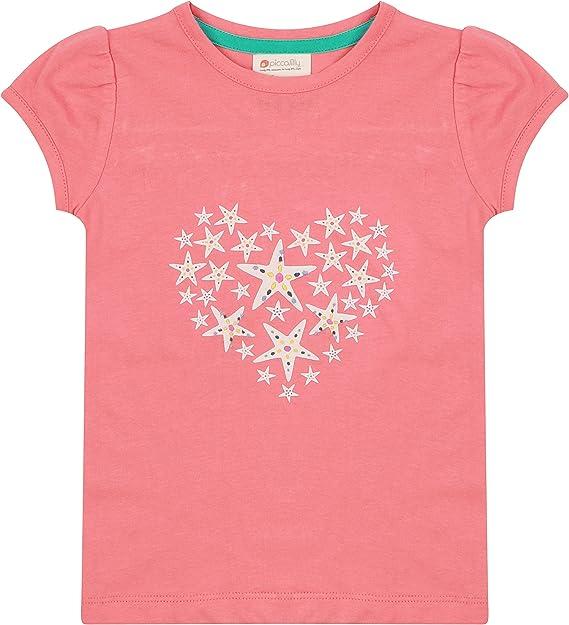Piccalilly Camiseta de coral para niñas con diseño de estrella ...