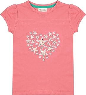 Piccalilly Girls T-shirt pour enfant en jersey bio doux Motif étoile de mer