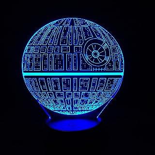 Alientech Star Wars estrella de la muerte 3d visuales LED