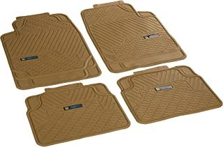 Highland 4447900 Weather Fortress Tan Synthetic Rain Floor Mat - 4 Piece