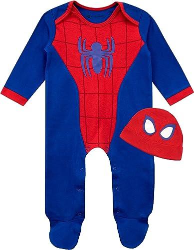 Marvel - Dors Bien et Bonnet Ensemble - Spiderman - Bébé Garçon