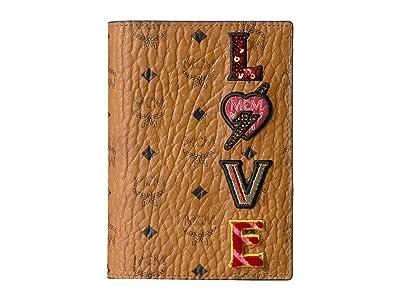 MCM Love Patch Visetos Passport Holder (Cognac) Handbags