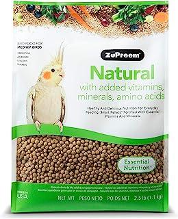 ZuPreem Natural Bird Food for Medium Birds, 2.5 lb Bag (2-Pack) | Made in The USA, Essential Vitamins, Minerals, Amino Aci...