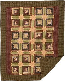 VHC Brands Rustic & Lodge Pillows & Throws - Tea Cabin Green Throw, Moss