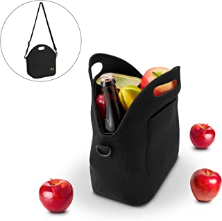 Neoprene Lunch Tote Washable Lunchbox Bag with Shoulder Strap, Non-toxic Insulated Lunch..