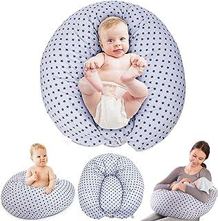 بالش پرستاری خانگی خنک کننده ، بالش های اصلی تغذیه با شیر مادر برای نوزادان یا مادران دارای کوسن داخلی ، روکش 100٪ پنبه قابل حمل برای بالش بارداری ، 47 اینچ ، خاکستری
