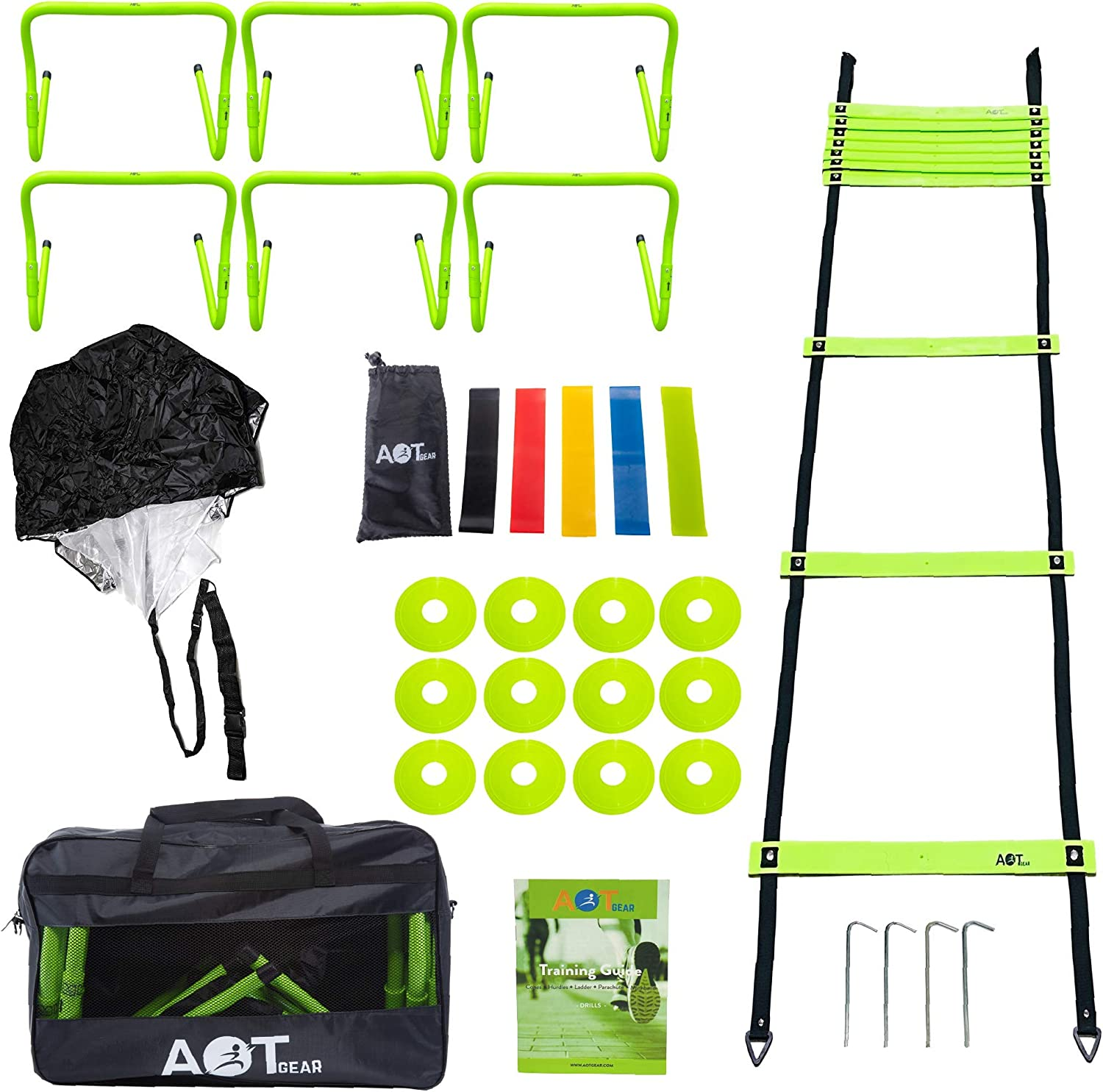 AOT Gear Speed Save money and Agility Training Set - Equipment Inc quality assurance Complete