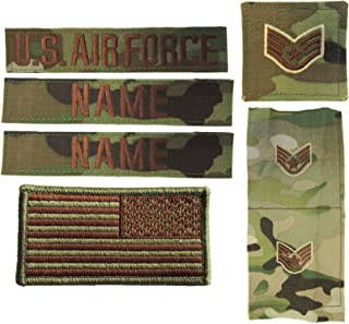 USAF OCP Name Tape Rank Insignia Package - U.S. Air Force Spice Brown