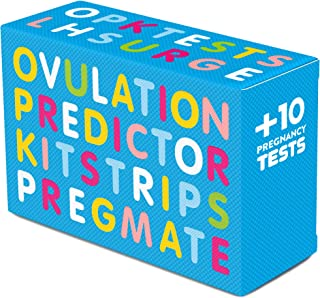 PREGMATE 30 Ovulation and 10 Pregnancy Test Strips Predictor Kit (30 LH + 10 HCG)