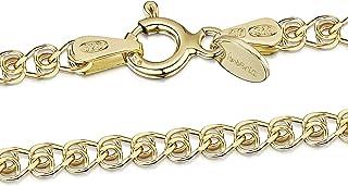 Amberta Sieraden - Echt 925 Sterling Zilver - 18K Geel Verguld Keten - Hart Halskettingen - Collier voor Vrouwen - Lengte:...