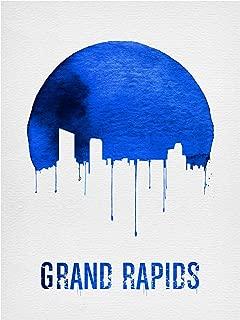 Trademark Fine Art Grand Rapids Skyline Blue by Naxart, 14x19, Multiple