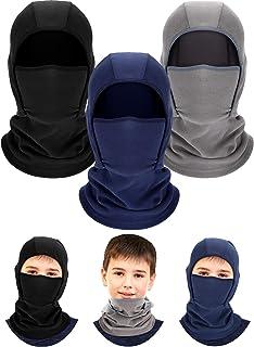 3 Pieces Kids Warm Hood Balaclava Winter Windproof Hat...