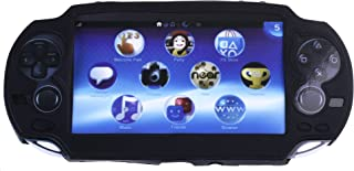 COSMOS Black Color Silicone Bumper Protection Case Cover for Playstation PS VITA 1000, Fits for Oval Start & Select Button Only, with LCD Touch Screen Cleaning Cloth