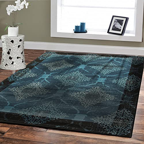 Navy Blue Area Rugs 8x10 Clearance Amazon Com