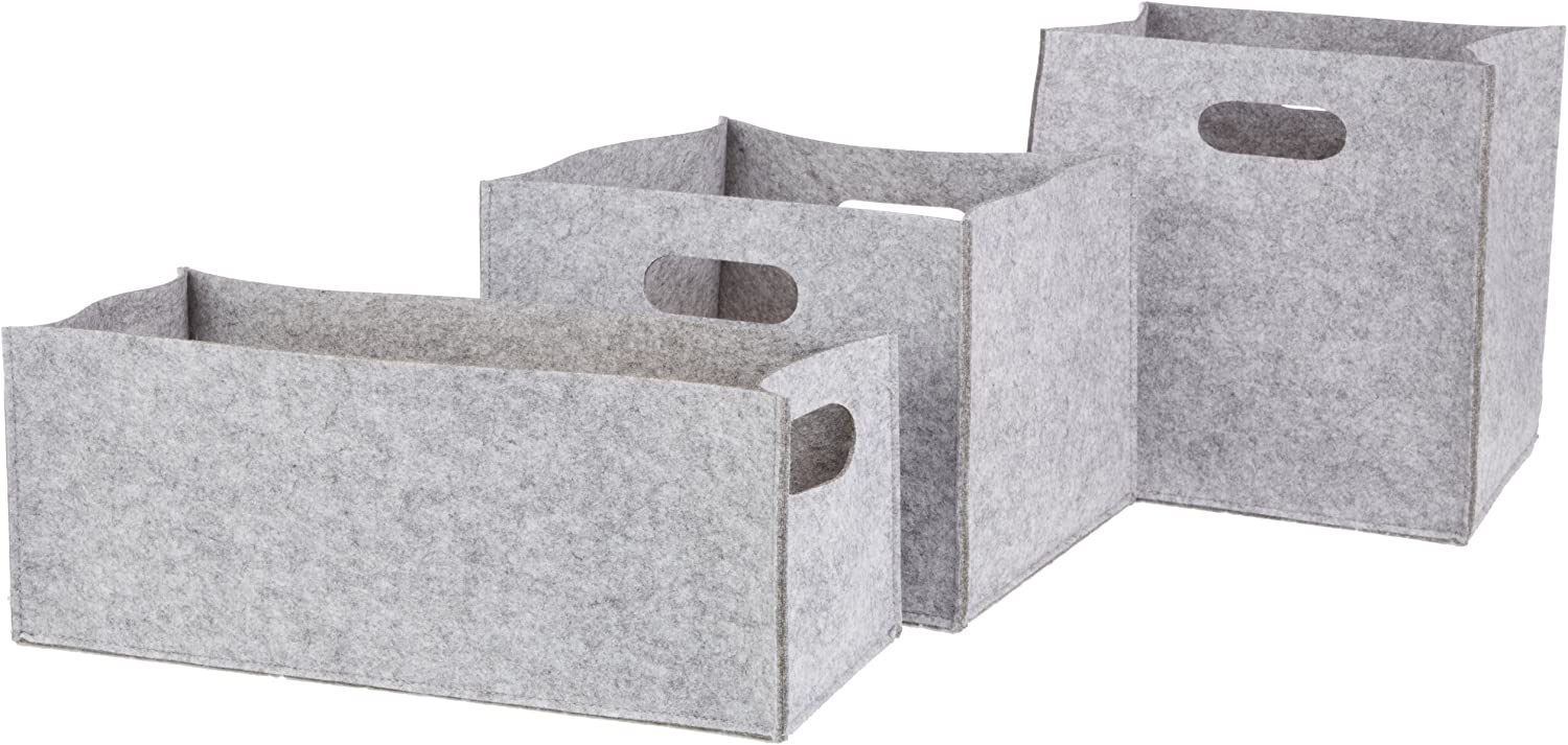 DII Felt for The Ranking TOP14 Home Storage 3 Grey Set of Bins sold out Light