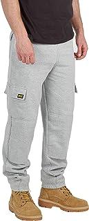 MIG - Mud Ice Gravel Mens Combat Cargo Work Tracksuit Jogging Bottoms with Knee Pad Pockets Fleece Pants