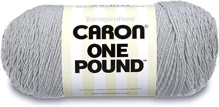 Caron  One Pound Solids Yarn - (4) Medium Gauge 100% Acrylic - 16 oz -  Grey Mix- For Crochet, Knitting & Crafting