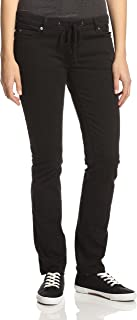 Slim Leg Drawstring Pants (2 / Medium, Black)